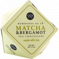 Драже «Mi&Cu» в белом шоколаде с тертым миндалём с чаем Матча и бергамотом, 60 г.