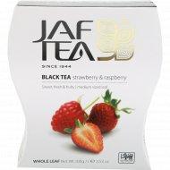 Чай черный «Jaf Tea» Strawberry & Raspberry, 100 г.