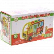 Деревянная игрушка «Автобус-сортер».