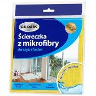 Салфетка из микрофибры для мытья стёкол и зеркал «Grosik» 30х30 см.