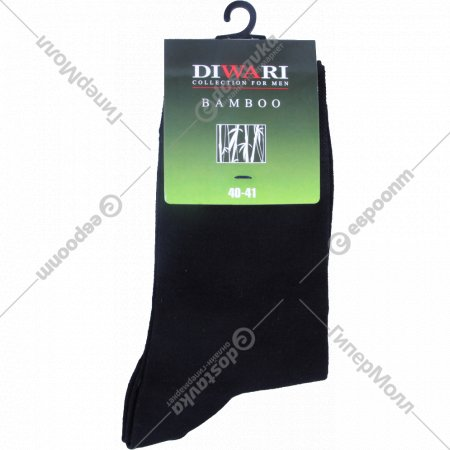 Носки мужские «Diwari Bamboo» чёрные, 25 размер.