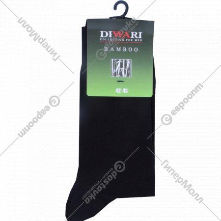 Носки мужские «Diwari Bamboo» чёрные, 27 размер.