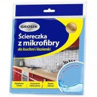 Салфетка из микрофибры для уборки кухни и ванны «Grosik» 30х30см.