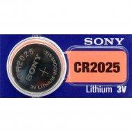 Элемент питания «Sony» Lithium CR2025, 1 шт.