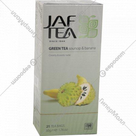 Чай «JAF TEA» зеленый с ароматом соусап и банана, 25 шт по 2 г, 50 г.