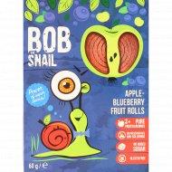 Фруктово-ягодный ролл «Bob Snail» яблочно-черничный, 60 г.