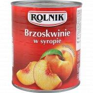 Персики «Rolnik» консервированные, 820 г.