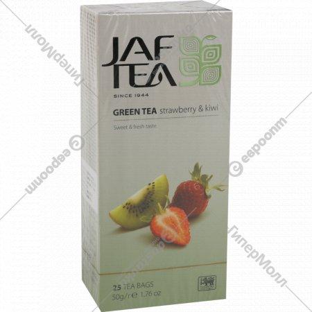 Чай зеленый «Jaf Tea» с ароматом клубники и киви, 25 пакетиков х 2 г.