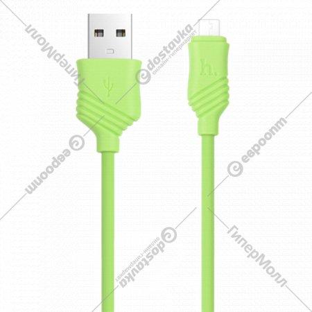 Дата-кабель «Hoco» X6 Khaki MicroUSB, 1.0 м.