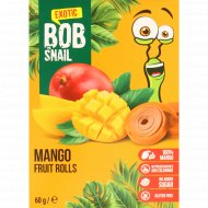 Фруктовый ролл «Bob Snail» манговый, 60 г