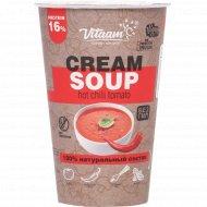 Протеиновый суп «Cream soup» томатный, острый, 50 г.