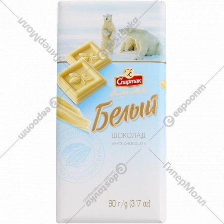 Шоколад «Спартак» белый, 90 г.