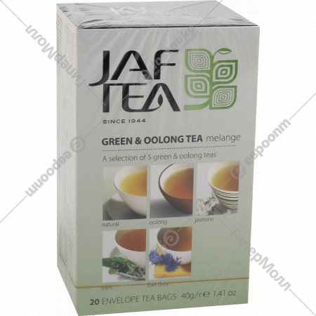 Чай зеленый «Jaf Tea» Oolong, 20 пакетиков.