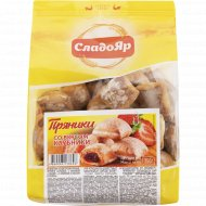 Пряники «СладоЯр» с начинкой со вкусом клубники, 350 г.