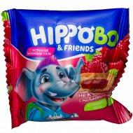 Пирожное бисквитное «Hippo Bo & Friends» с малиновой начинкой, 32 г
