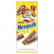 Шоколад «Nesquik» молочный с молочной начинкой и кальцием, 100 г
