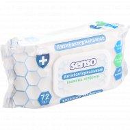 Влажные салфетки «Senso» антибактериальные, 72 шт