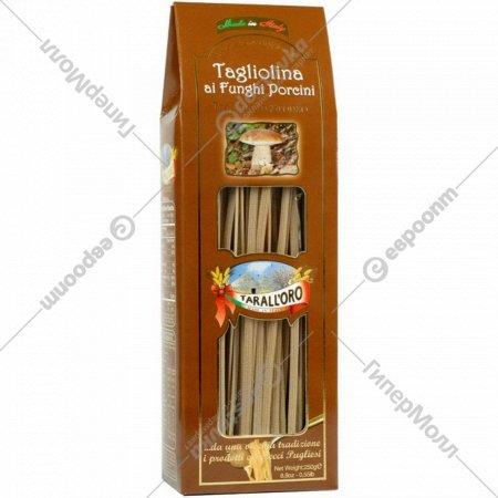 Спагетти «Tarall'oro» с белыми грибами, 250 г.