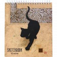 Скетчбук «Багарт-кошка» 60 листов.