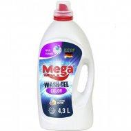 Гель для стирки «Mega Wash» waschgel color, 4.3 л