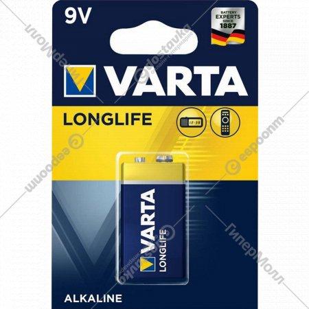 Элемент питания «Varta» Longlife 6LR61, Крона, 1 шт.