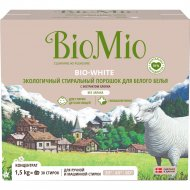 Экологичный стиральный порошок «Bio-White» для белого белья, с экстрактом хлопка, 1.5 кг.