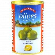 Оливки «Viva Oliva» c лимоном, 300 г.