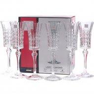 Набор бокалов для шампанского «Eclat» Lady Diamond, 6 шт, 150 мл