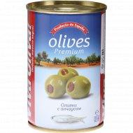Оливки «Viva Oliva» c анчоусом, 300 г.