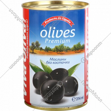 Маслины «Viva Oliva» без косточки, 300 г.