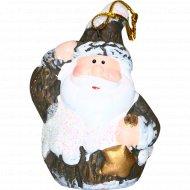 Новогоднее украшение «Дед Мороз.Снеговик.Олень» на подвеске, 8.5 см.