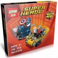 Конструктор «Lepin» 07028, Капитан Америка против Красного Черепа.