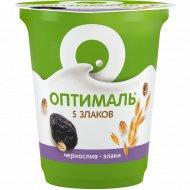 Биойогурт «Оптималь» чернослив-злаки 2 %, 350 г.