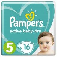 Подгузники «Pampers» Active Baby-Dry, 11-18 кг, 5 размер, 16 шт.