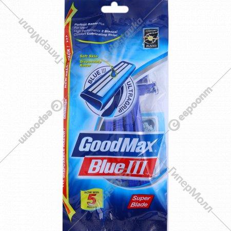 Станки бритвенные «Goodmax» разового пользования, 5 шт.