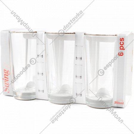 Набор стаканов стеклянных «Гладкий» 6 штук, 300 мл.