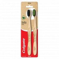 Зубная щетка «Colgate» бамбук, древесный уголь, 1+1.