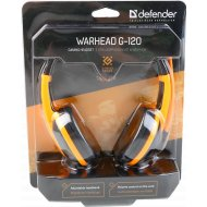 Наушники-гарнитура «Defender» Warhead G-120 / 64099, черные, оранжевые