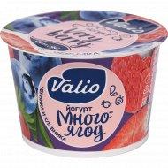 Йогурт «Valio» с черникой и клубникой, 2.6%, 180 г.