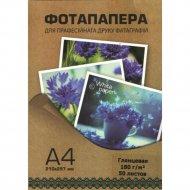 Фотобумага глянцевая «White Paper» 180 г/м2, А4, 50 л.