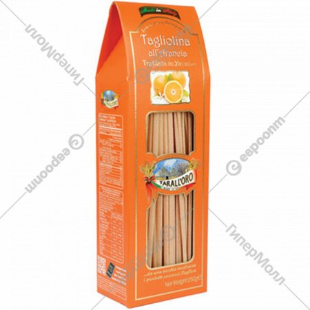 Спагетти «Tarall'oro» с апельсиновым соком, 250 г.