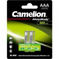 Комплект аккумуляторов «Camelion» NH-AAA800ARBP2, 2 шт