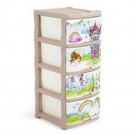 Детский комод «Сказочная Принцесса» 4 ящика.