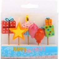 Набор свечей для торта фигурных «Подарочки» день рождения, 5 шт.