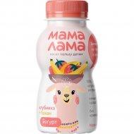 Йогурт питьевой «Мама Лама» клубника и банан, 2.5%, 200 г.