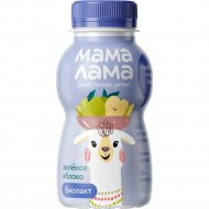 Напиток кисломолочный «Мама Лама» зеленое яблоко, 2.5%, 100 г.