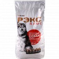Корм сухой «Рэкс Плюс» для взрослых собак, 15 кг.