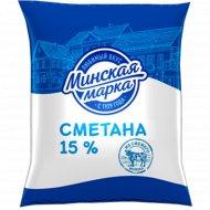 Сметана «Минская марка» 15%, 400 г.