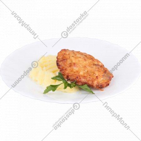 Котлета «Дуэт» с картофельным пюре 90+150г.