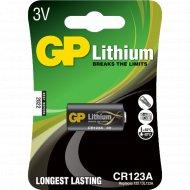 Элемент питания «GP Lithium» CR123A, 1 шт.